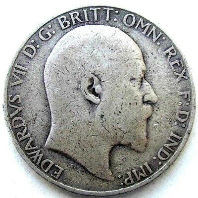 Great Britain Coins, One Florin / Two Shillings 190?, Edward Vii, Silver 0.925