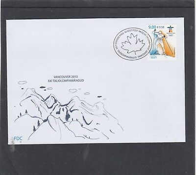 Estonia  2010 Winter Olympic Games Vancouver First Day Cover FDC Tallin spec h/s