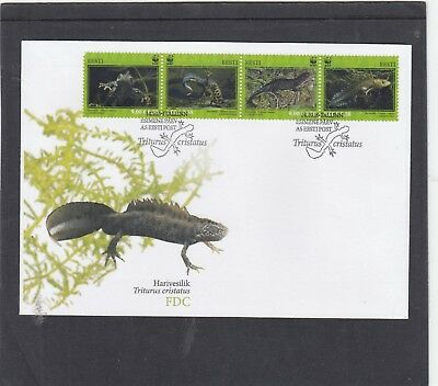 Estonia  2010 WWF Crested Newt First Day Cover FDC Tallin spec h/s
