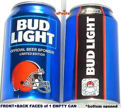 2018 Cleveland Browns Nfl Kickoff Bud Light Beer Can Oh Team Sports Fan Football