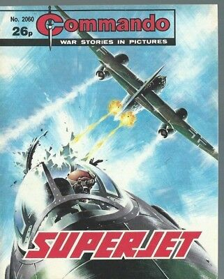 Superjet,commando War Stories In Pictures,no.2060,war Comic,1987