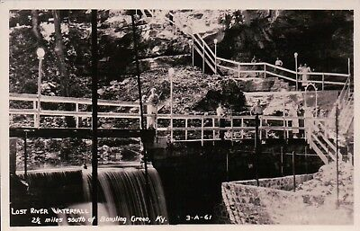 RPPC Lost River Waterfall, Bowling Green, KY Vintage Postcard