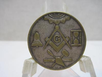 Antique Vintage Token Coin Masonic Made A Mason Lodge No. Entered Passed Raised