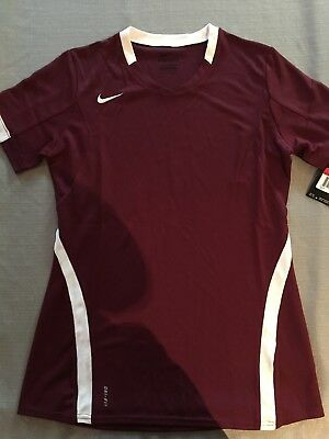 Nike Womens Dri Fit fitted tee shirt top Large athletic running New