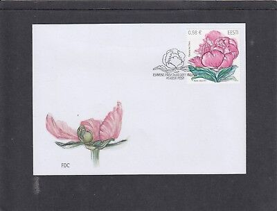 Estonia  2011 Flower - Peony First Day Cover FDC Tallin special h/s
