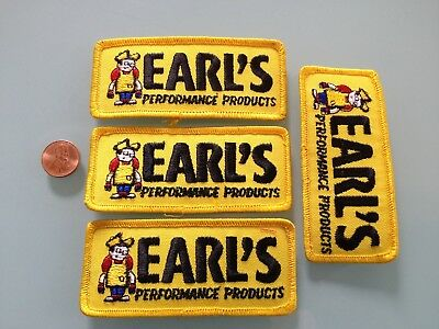 4 Vintage EARL'S performance products PATCH LOT unused RARE iron on