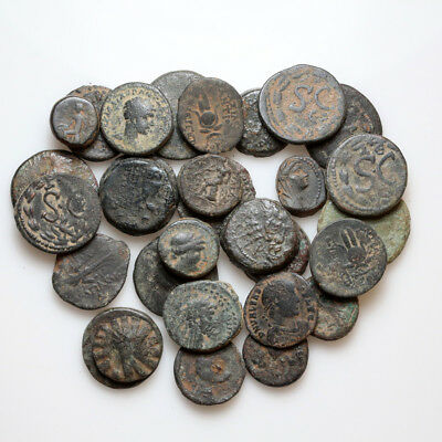 Lot of 29 Ancient Greek And Roman bronze coins