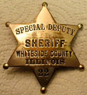 Early Whiteside County Il. #'d Special Deputy Sheriff Childs & Co. Police Badge!