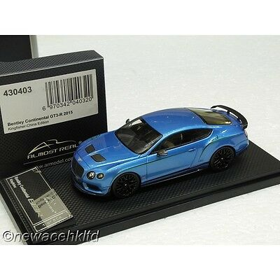Bentley Continental Gt3-R 2015 Kingfisher Almost Real 1/43 #430403