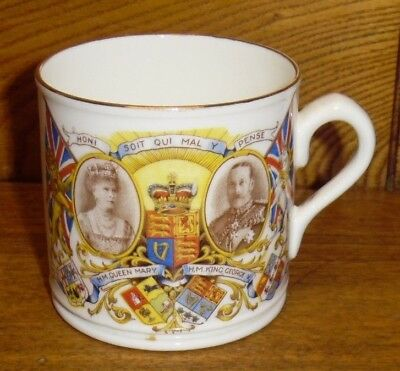 1935 Porcelain Commemorative Silver Jubilee King George V & Queen Mary Cup