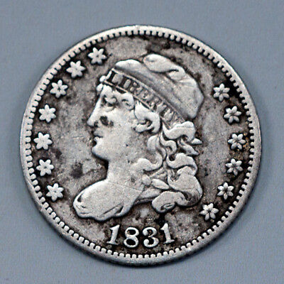 1831 5C Capped Bust Half Dime 90% Silver Vintage US Coin NICE CONDITION