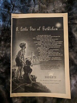 Vintage Rolex Christmas Ad - From January 1944 Esquire Magazine - Rare
