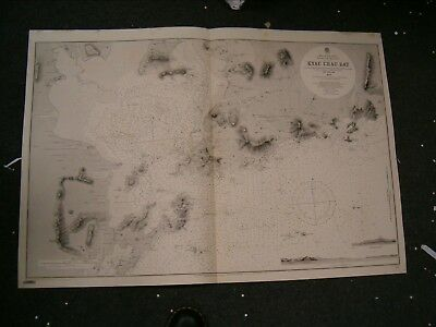 Vintage Admiralty Chart 857 CHINA - KYAU CHAU BAY 1865 edition
