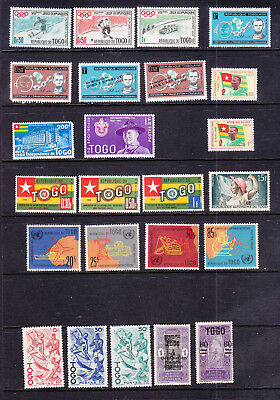 Togo postage stamps - 24 x MINT Hinged- Collection odds