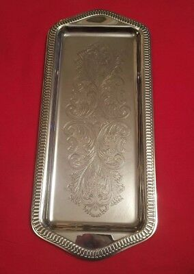 Vintage Silver Plated Tray By Bellini c.1970's