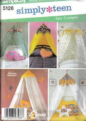 Simplicity Home Decorating Simply Teen Sewing Pattern  #5126 ~ Canopies