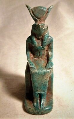 Ancient Egyptian Seated Statuette Of Horus