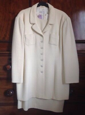 Ladies Pale Yellow Grace Collection Dress & Jacket Wedding / Racing size 14