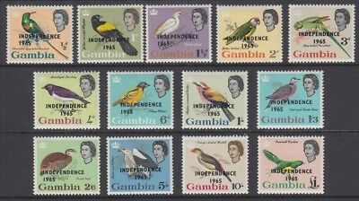 GAMBIA 1965 INDEPENDENCE BIRDS SET (x13) MINT (ID:795/D54908)