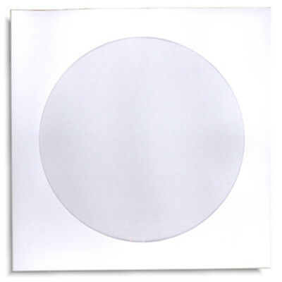 200-Pak White Paper CD/DVD Sleeves with Window and NO Flap!  100gram weight