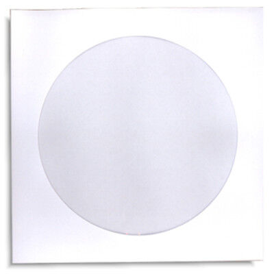 1000-Pak White Paper CD/DVD Sleeves with Window and NO Flap!  100gram weight