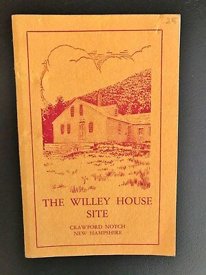 VINTAGE 1953 WHITE MOUNTAINS NH SLIDE WILLEY House Site BOOKLET