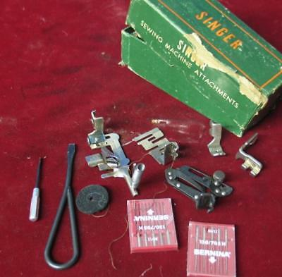 Vintage Singer Featherweight 221 Sewing Machine Attachments Tools Etc
