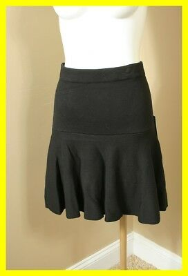NEW CECE Rich Black Sweater Skirt M NWT 2116 $79