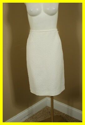 NEW CALVIN KLEIN Cream Textured Skirt 14 P NWT 2296 $79