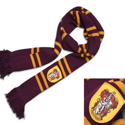 Harry Potter Gryffindor Thicken Wool Knit Scarf Wrap Warm Costume Xmas Gift New