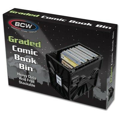 5 BCW Graded Comic Storage Bin Black Box