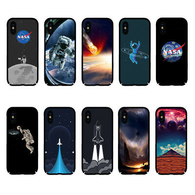 NASA Universe Space Moon Rocket Hard Cell Phone Case for IPhone Samsung Huawei