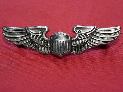 "WWII US Army Pilot Wings Sterling 2"" Shirt Size AAF"