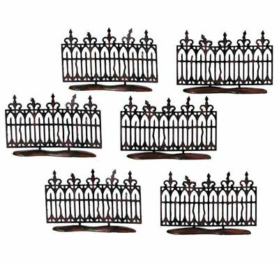 Department 56 Spooky Wrought Iron Fence Halloween Village Accessory Set 56.52982