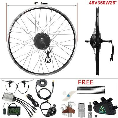 "E-Bike Conversion Kit 48V 350W 26"" Heckmotor Schraubkranz Motor Kit Umbausatz"