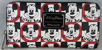 Disney Parks Mickey Mouse Club Loungefly Zip Wallet NEW