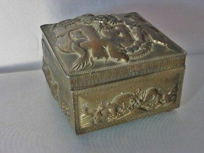 vintage ANTIQUE CHINESE DRAGON SERPENT SNUFFBOX marked SNUFF BOX TRINKET JEWELRY