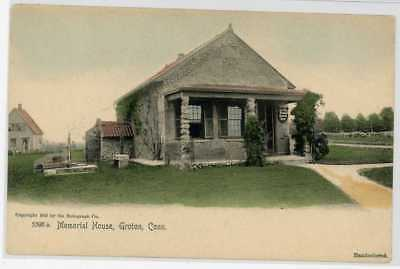 1905 Groton Ct Memorial House Hand Colored New London County Postcard