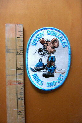 Vintage Sno - Jet Speedy Gonzales Embroidered Patch