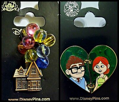 Disney Parks UP house with 3D balloons + Carl & Ellie heart