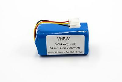 Batterie 2000mAh 14.4V Li-Ion pour Severin Chill RB7028, RB-7028
