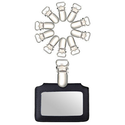 10/20Pcs 10mm Insert Pacifier Metal Holder Suspender Clips Hook Mitten DIY Craft