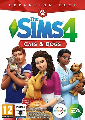 The Sims 4 Cats and Dogs Expansion Pack For PC & MAC (New & Sealed Code in Box)