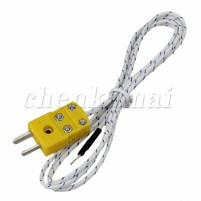 1Meter 3.3' Thermocouple K Type Cable Probe Sensors with Mini Connector