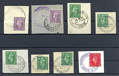 Poland 1941/46   Ww Ii  8 Spec Postmarks On English  Polish Army  In Britain @11