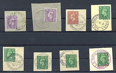 Poland 1943/46   Ww Ii  8 Spec Postmarks On English  Polish Army  In Britain @16