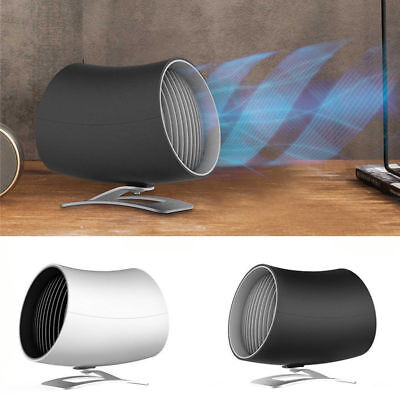 Portable Mini USB Fan Touch Control Desktop Electric Cooler Twin Turbo Blades