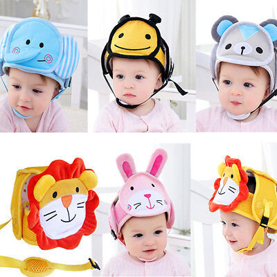 Infant Baby Cartoon Safety Helmet Head Protection Hat for Walking Crawling HZ