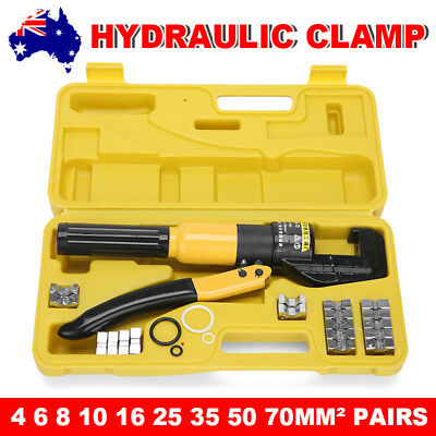 8 Ton 9 Dies 4mm-70mm Hydraulic Wire Crimper Battery Cable Lug Crimping Tool Kit