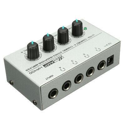 4 Channel Headphone HA400 Ultra-compact Audio Stereo Amp Microamp Amplifier new